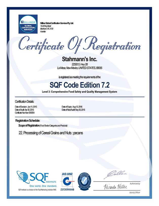 SQF-L3-Certificate---Stahmann's-Inc